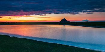 Baie du Mont Saint Michel, evening colours