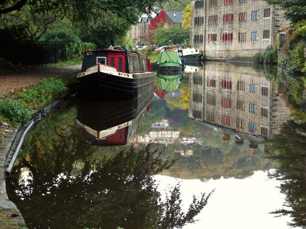 Hebden Bridge reflections by cookyphil