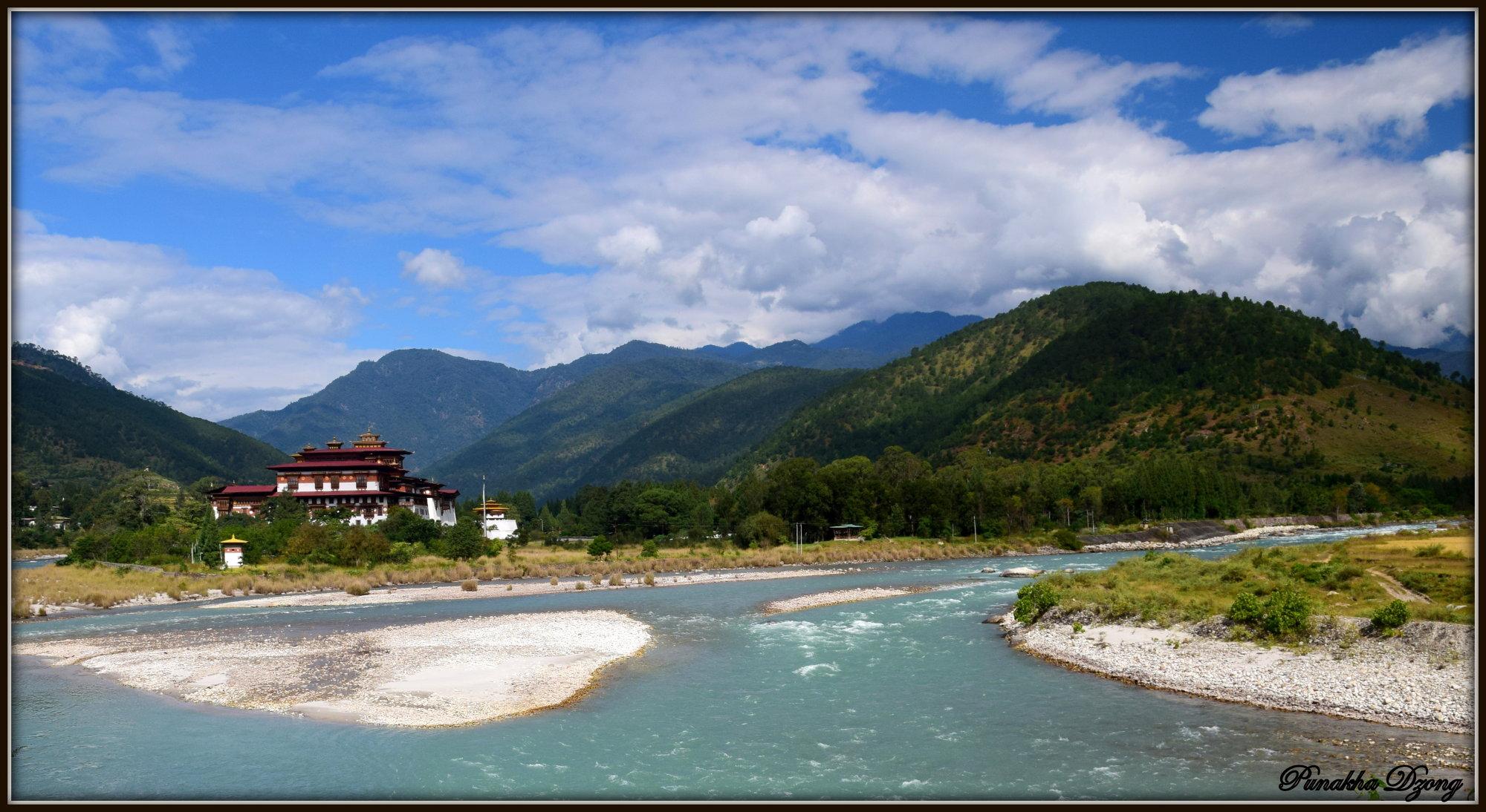Punakha Dzong - at nature`s lap.