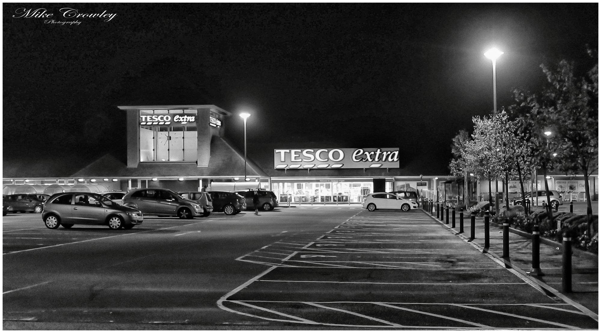 Tesco at night