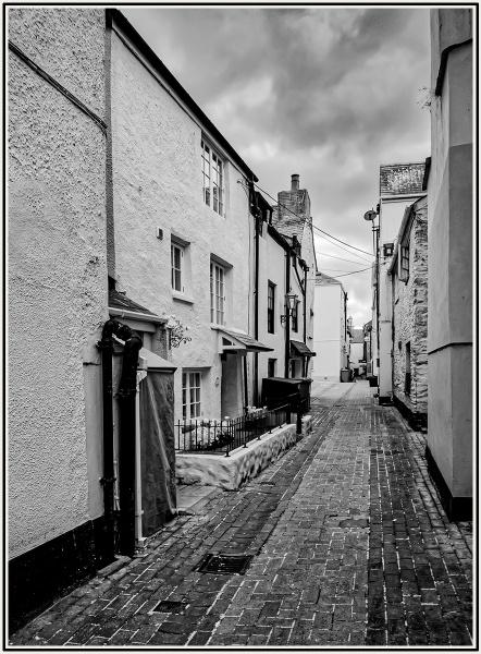 Backstreet in Looe Cornwall by ivalyn