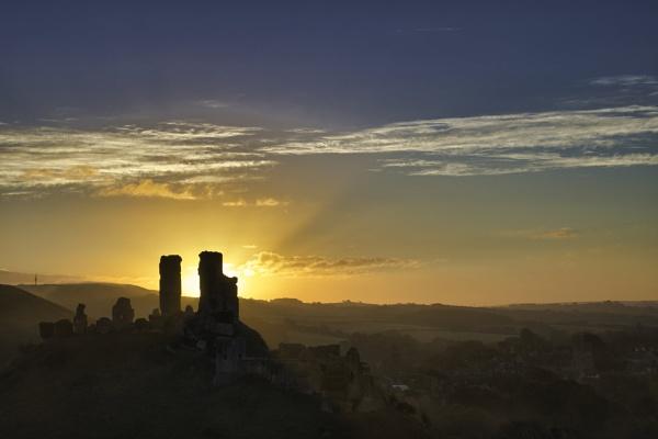 Castle at Dawn by JohnDyer