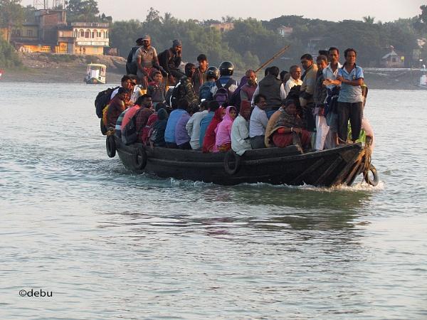 From_Kolkata # 119 Overloaded Boat ride in Gosaba  island in Sundarbans, West Bengal by debu