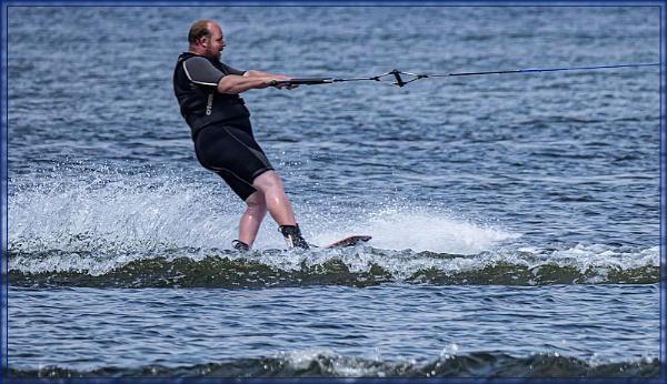 Water Skiing by ivalyn