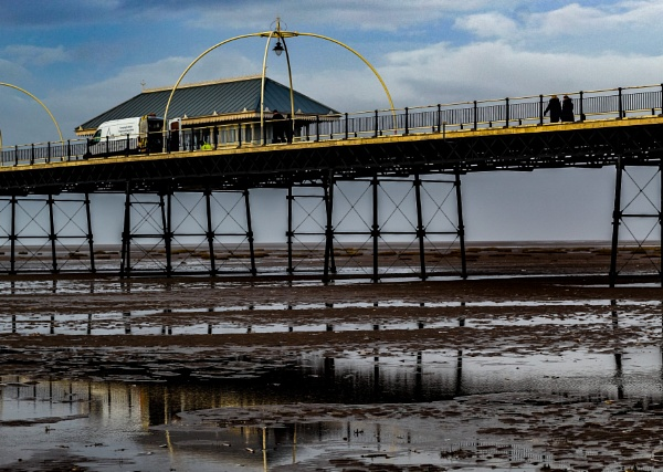 Southport Pier at Sunset by bcegerton