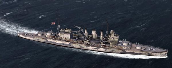 HMS Cornwall by RLF