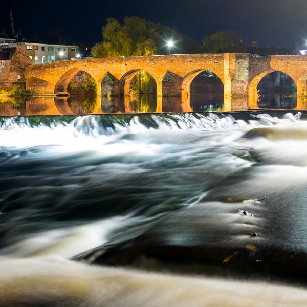 Fast river flowing at night by Mark_24