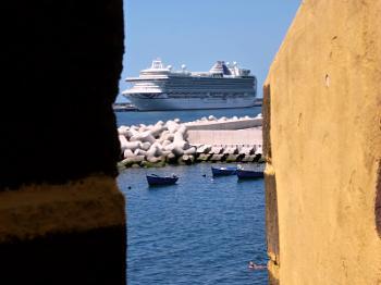 Cruise ship in Madeira