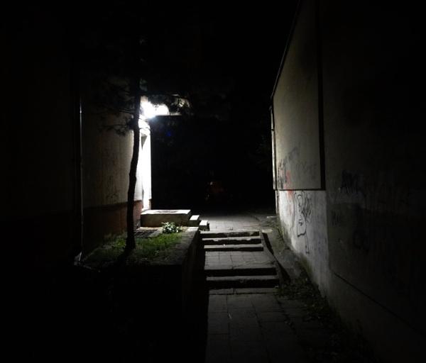 Stairs at night by SauliusR