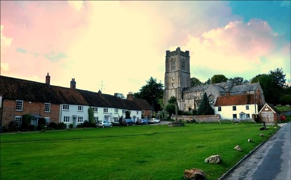 The village green,Aldbourne,Wiltshire. by niknakpaddywhack