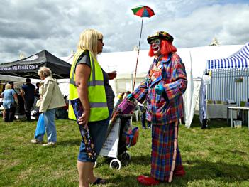 How dare you accuse me of clowning around steward.
