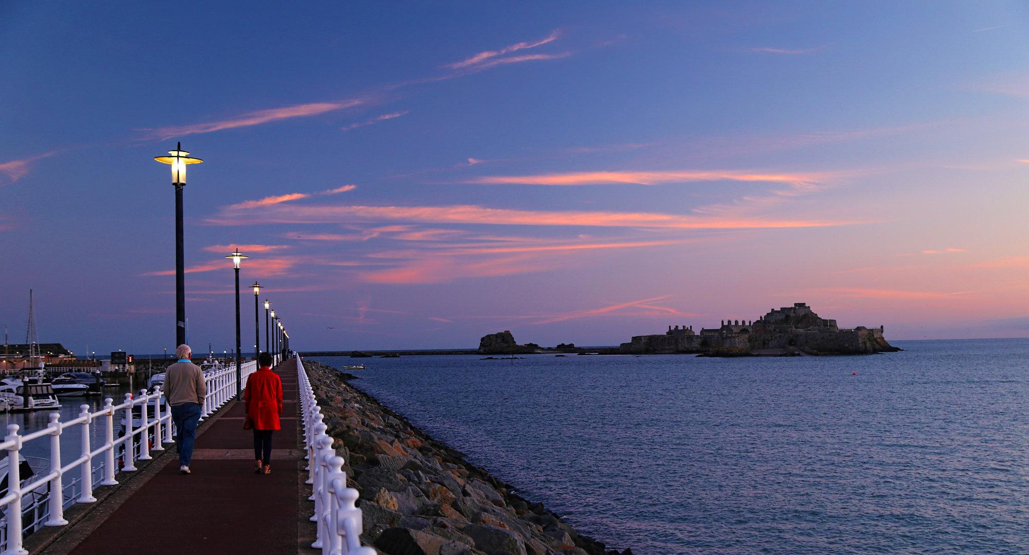 An Evening stroll St Hellier, Jersey