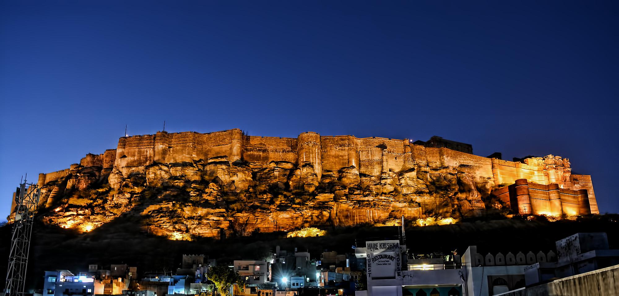 Mehrangarh Fort......evening illumination