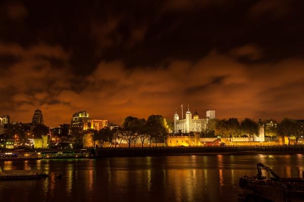 Tower at night by CRAIGR2