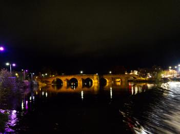 Devorgilla bridge at night