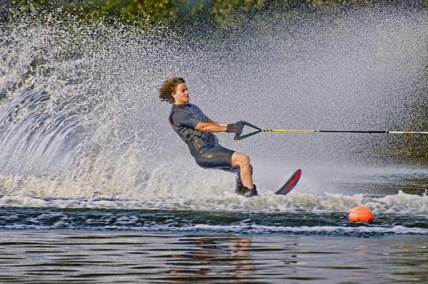 Water skiing by Riyaz