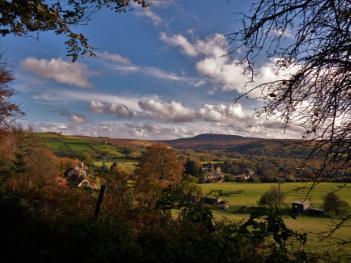 Osmotherley village and Black Hambleton hill