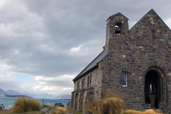 The Church of the Good Shepherd Lake Tekapo New Zealand by Janetdinah