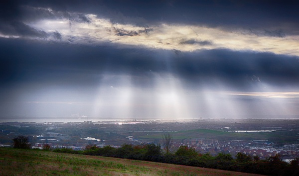 Portsmouth from Portsdown Hill by frenchie44