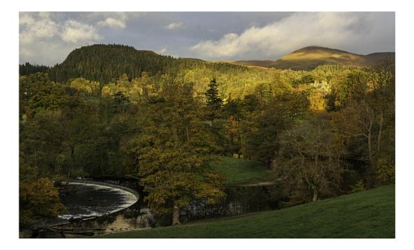 Autumn at Horseshoe Falls, Llangollen. by Brenty