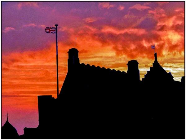Edinburgh Castle Sunset by mac