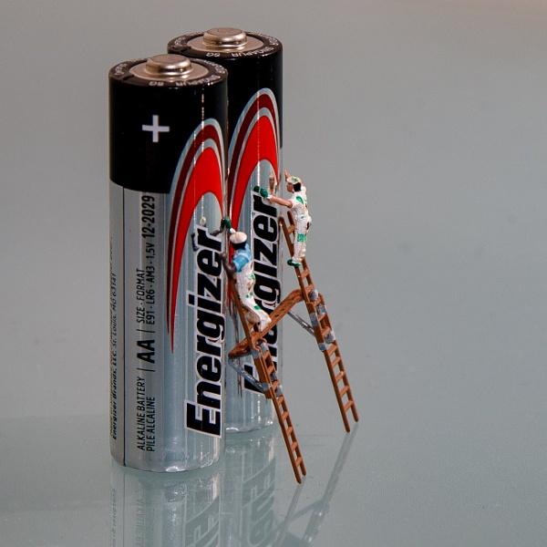 Shiny batteries by Stevetheroofer