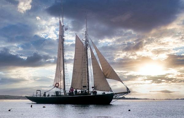 New England Sailing Boat by Janetdinah