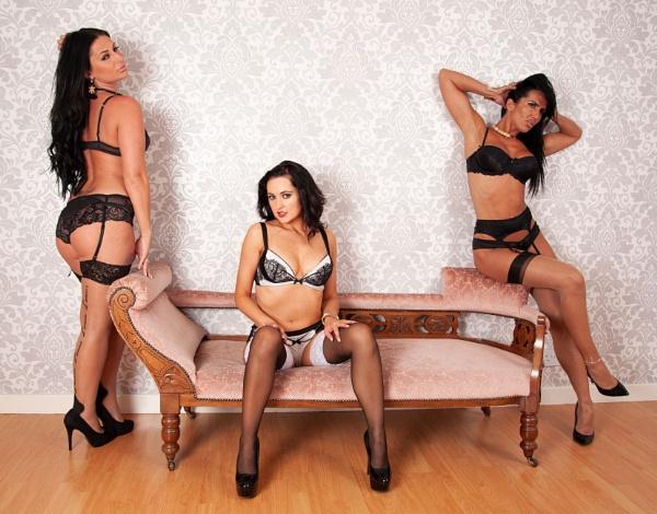 Three Beauties in their Lingerie by DennisBloodnok