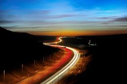 Motorway at night View