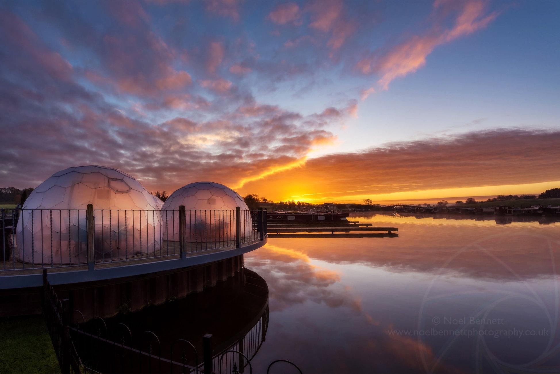 COVID Domes at Dawn