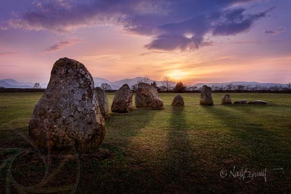 Castlerigg At Sunset by NoelBennettPhotography