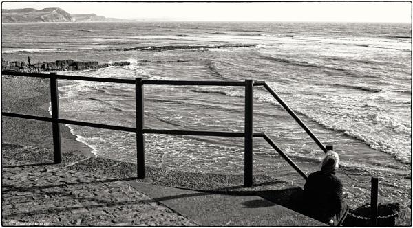 Breaking Waves & Golden Cap Cliffs  v Mobile Phone .......no contest ! by starckimages