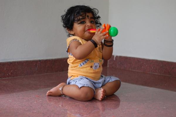 A happy baby has shining eyes by gokul234