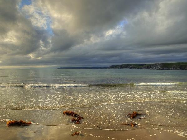 The Beach At Bigbury On Sea by ianmoorcroft