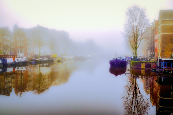 Amsterdam early morning mist. by scuggy
