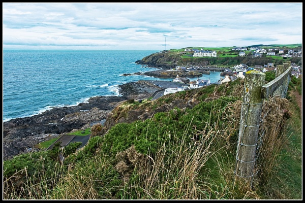 Portpatrick from the Castle by BiffoClick
