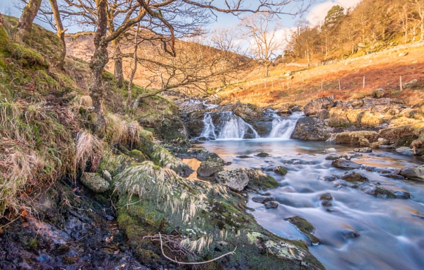 Snowdonia waterfall by Barno123