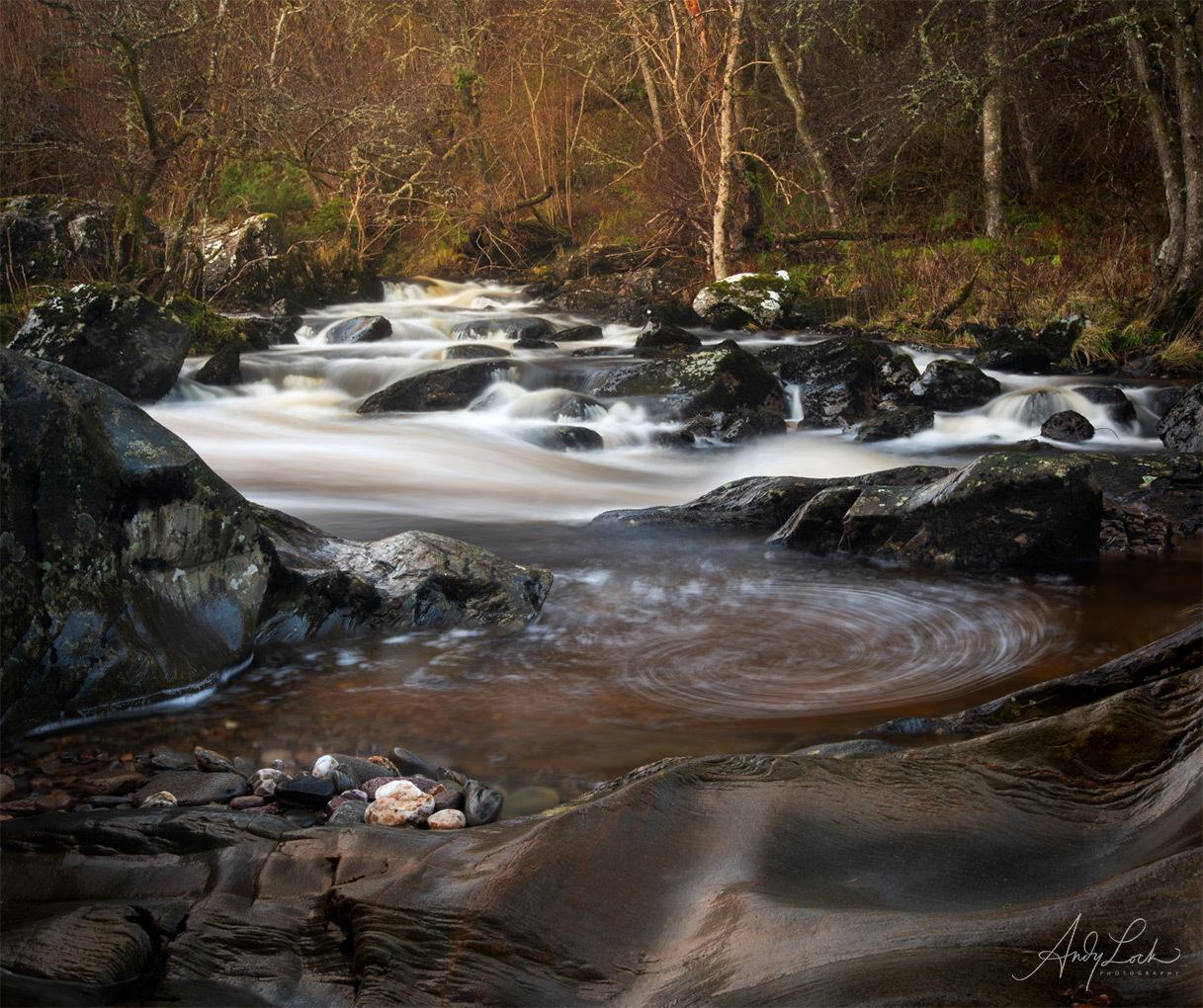 The Rumbling Bridge Falls near Dunkeld