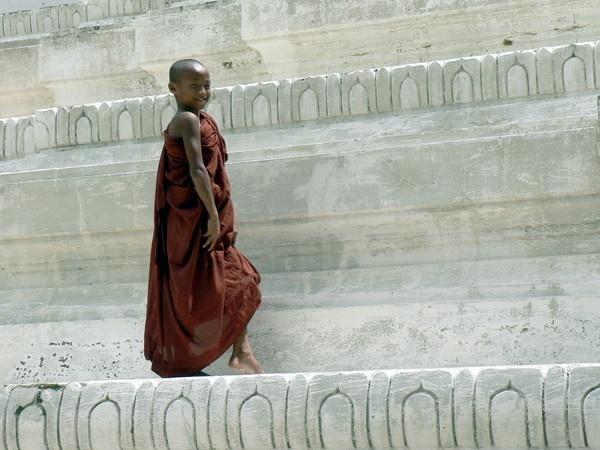 Burmese novice, Sagaing, Myanmar by chrisdunham