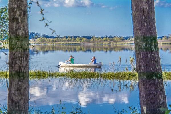 Canoeing on Myakka Lake by jbsaladino