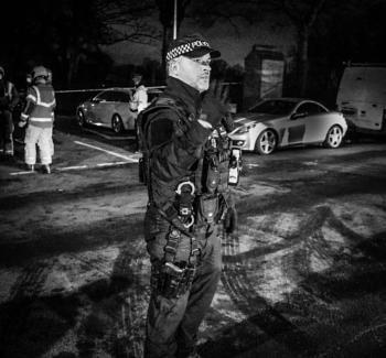 Police officer at Salford Siege