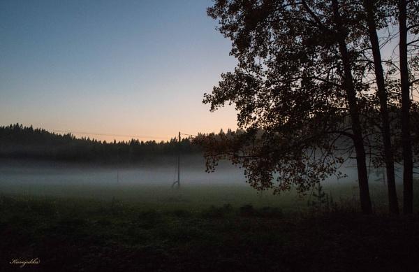 Misty evening. by Jukka