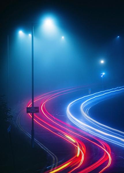 Foggy night by AMS1