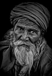 A sympathetic portrait of a homeless person.......