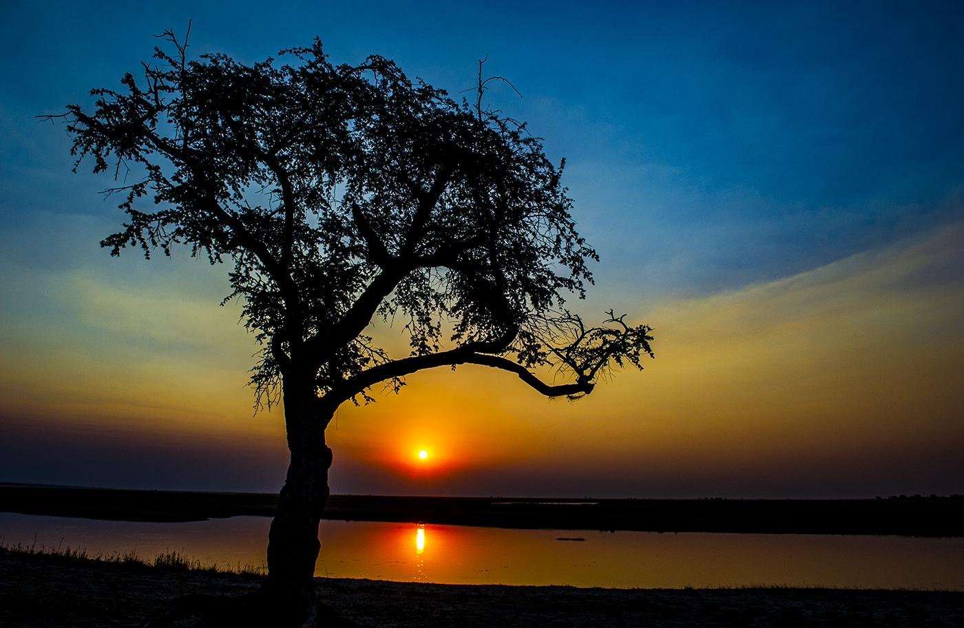 Sun set in Africa