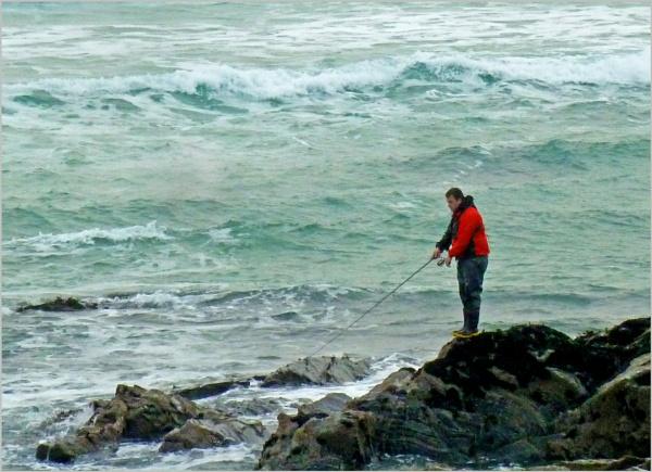 Lone Fisherman by JuBarney