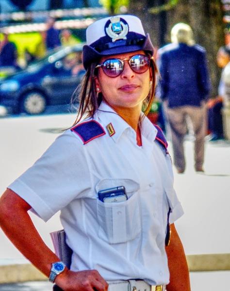 Not a fair cop. A brunette by MIKEYMIKEY