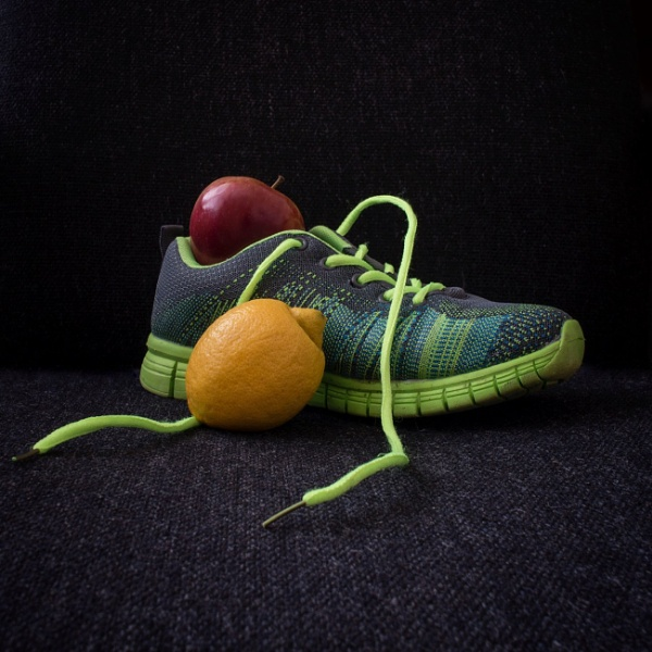 Shoe with fruit by br