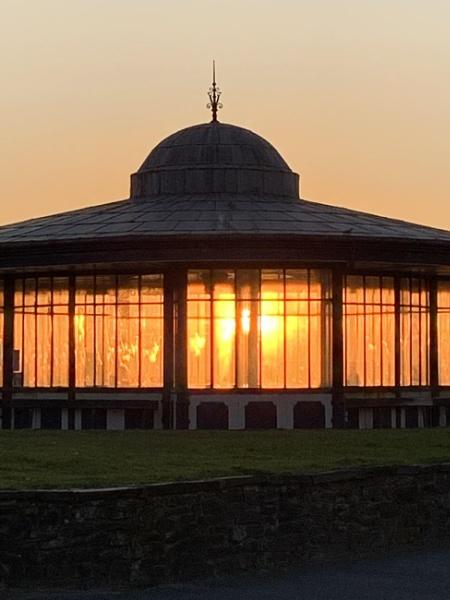Sun set through the window. by Chriscr