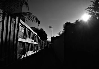 Sunlit alleyway